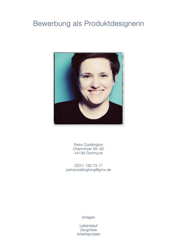 Deckblatt Bewerbung Bild einer Frau Petra Coddington Bewerbungsfotos Dortmund Fotograf Fotoshooting