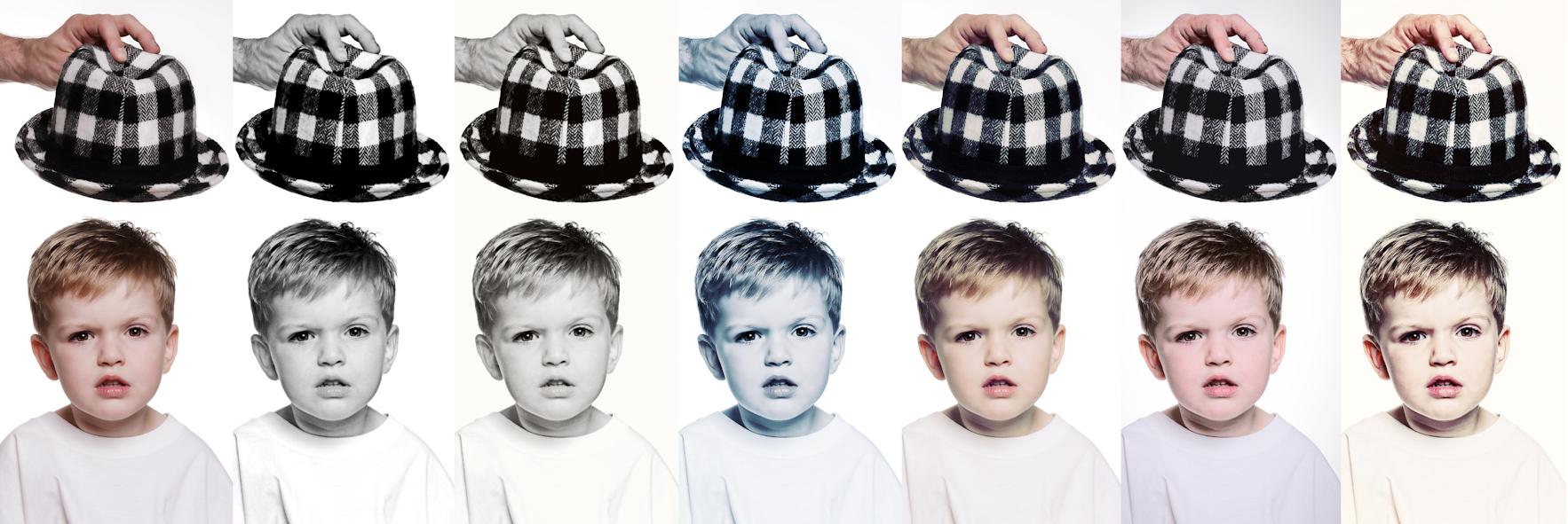 Kinderfoto mit verschiedenen Filtern versehen