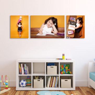 3 Bilder eines Mädchen Einschulung Foto Bilder über einem Regal Fotograf Dortmund Aktion Mini Session