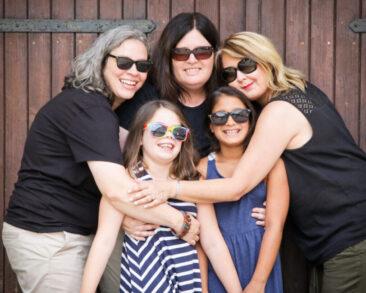 Familienfotos 5 Frauen Outdoor