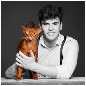 Fotograf Dortmund juner Mann mit Katze
