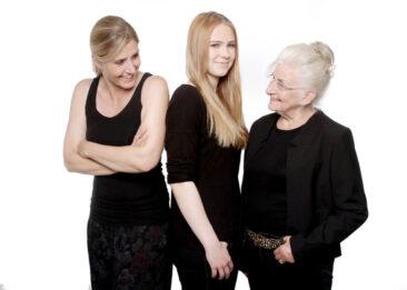 Familienfotos weißer Hintergrund