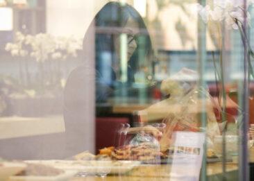 Restaurantfotografie Dortmund Spiegelung durch Fenster