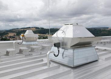 Unternehmensfotografie auf einem Dach
