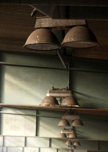Unternehmensfotografie verschmutze Lampen
